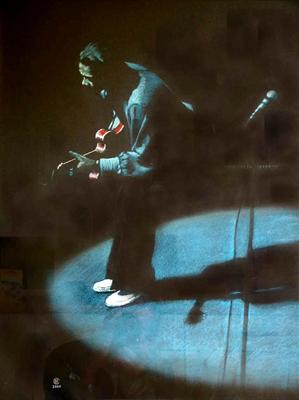 Chuck Berry on Stage in White Loafers
