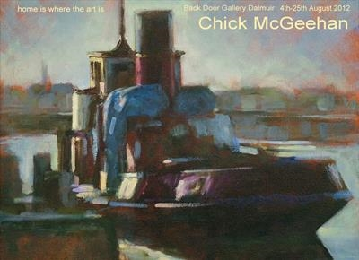 Low Light on Tug Boat (detail) poster for current exhibition