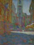 Afternoon Heat, Old Town, Nice by chick mcgeehan, Painting, Oil and Acrylic on Canvas
