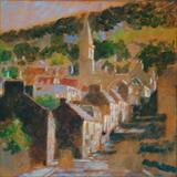 Afternoon Light Newburgh by chick mcgeehan, Painting, Acrylic on canvas