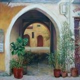 Archway Chania Crete by chick mcgeehan, Painting, Oil on canvas