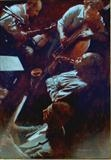 Charlie Parker in Session by chick mcgeehan, Painting, Acrylic on board