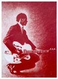 Chuck Berry Duck Walk by chick mcgeehan, Drawing, Red Chalk