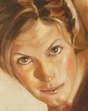 "Detail from ""The Eyes Have It"" by chick mcgeehan, Painting, Oil on canvas"