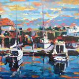 Early Morning Light, Rothesay, Isle of Bute by chick mcgeehan, Painting, Oil on canvas