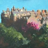 Edinburgh Syline by chick mcgeehan, Painting, Oil on canvas