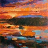 Evening Glow by chick mcgeehan, Painting, Oil and Acrylic on Canvas