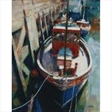 Fishing Boat Rothesay by chick mcgeehan, Painting, Oil on canvas