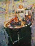 Fishing Trawler Ullapool by chick mcgeehan, Painting, Oil and Acrylic on Canvas