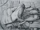 Glove and Generator by chick mcgeehan, Drawing, Charcoal on Paper
