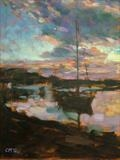 Harbour Gold by chick mcgeehan, Painting, Oil on canvas