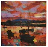 Harbour Mood by chick mcgeehan, Painting, Oil on canvas