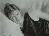 La Belle Suzanne by chick mcgeehan, Drawing, Charcoal on Paper