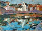 Making Ready, Crail Fife by chick mcgeehan, Painting, Acrylic on canvas