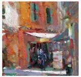 Morning, old town Nice by chick mcgeehan, Painting, Oil on canvas