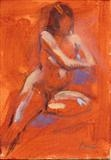 Nude Study by chick mcgeehan, Painting, Oil on Board
