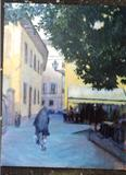 October Afternoon Lucca by chick mcgeehan, Painting, Acrylic on canvas