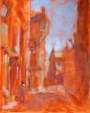 St Andrews Street Scene by chick mcgeehan, Painting, Acrylic on canvas