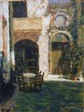 Sunny Courtyard Crete by chick mcgeehan, Painting, Acrylic on canvas