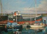 "The Puffer ""Spartan"" at Irvine Harbour by chick mcgeehan, Painting, Oil on canvas"